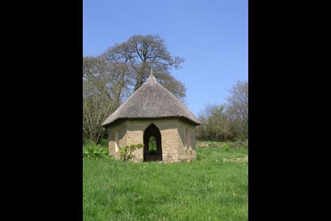 Cob summer house, West Ford farm, Cheriton Bishop, Devon
